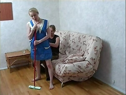 Russian Sister Fucked By Black Dildo Brother
