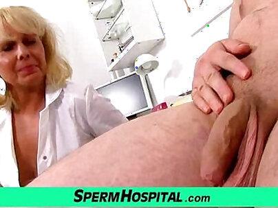 A boy gets handjob healthcare from milf doctor Koko