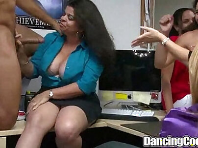 Dancingcock Long black Cock Office Orgy