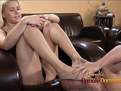 Mistress Humiliates Slave Convulses Sucking