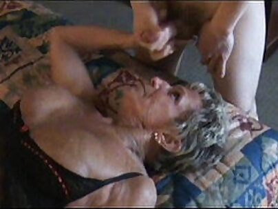 Big meloned daddy granny makes her man go low