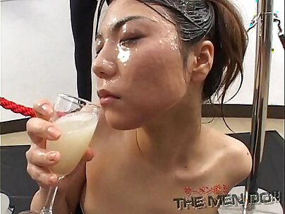 Japanese whore house serviced by the employer and she swallows a lot of Xs